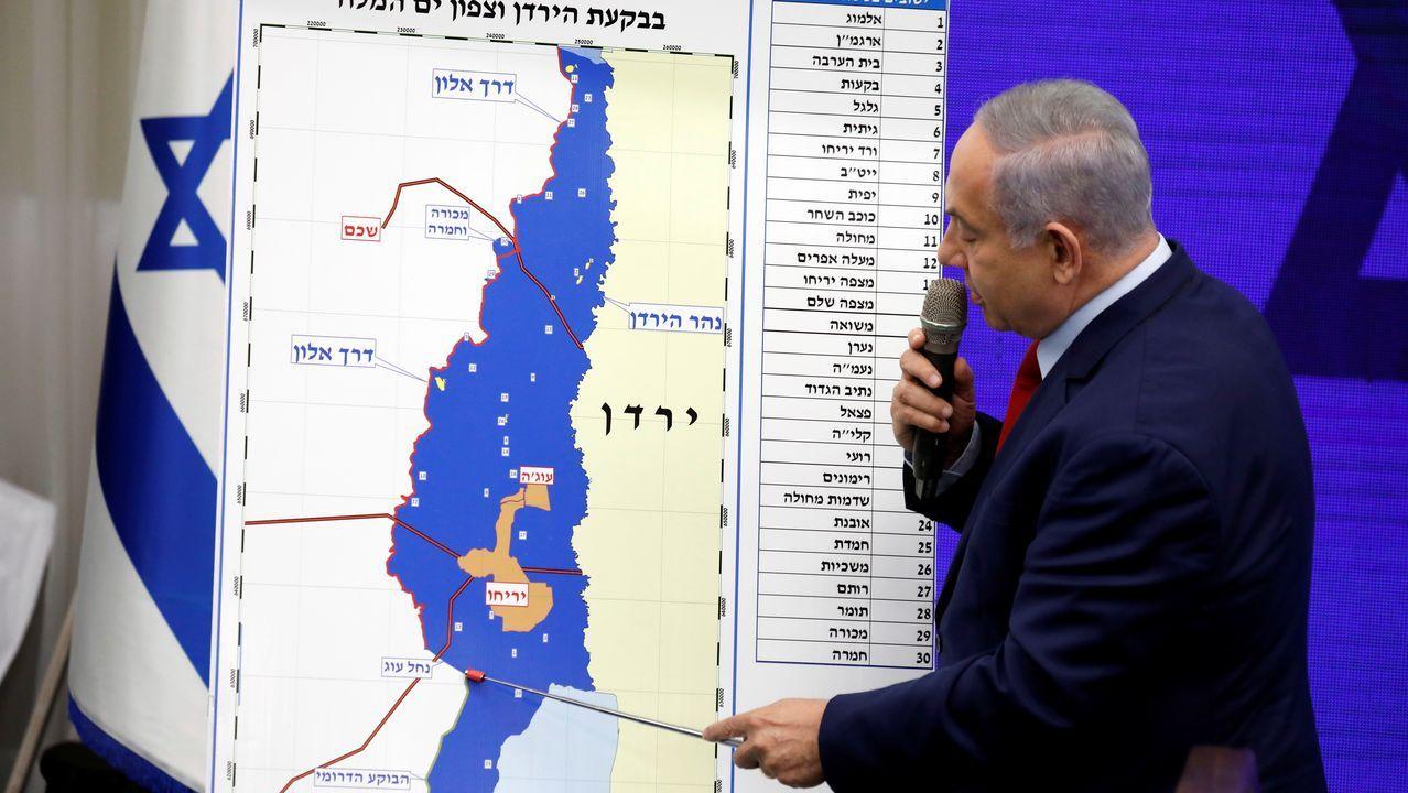 Netanyahu detalla sobre unn mapa del territorio palestino su proyecto si gana en las urnas el día 17