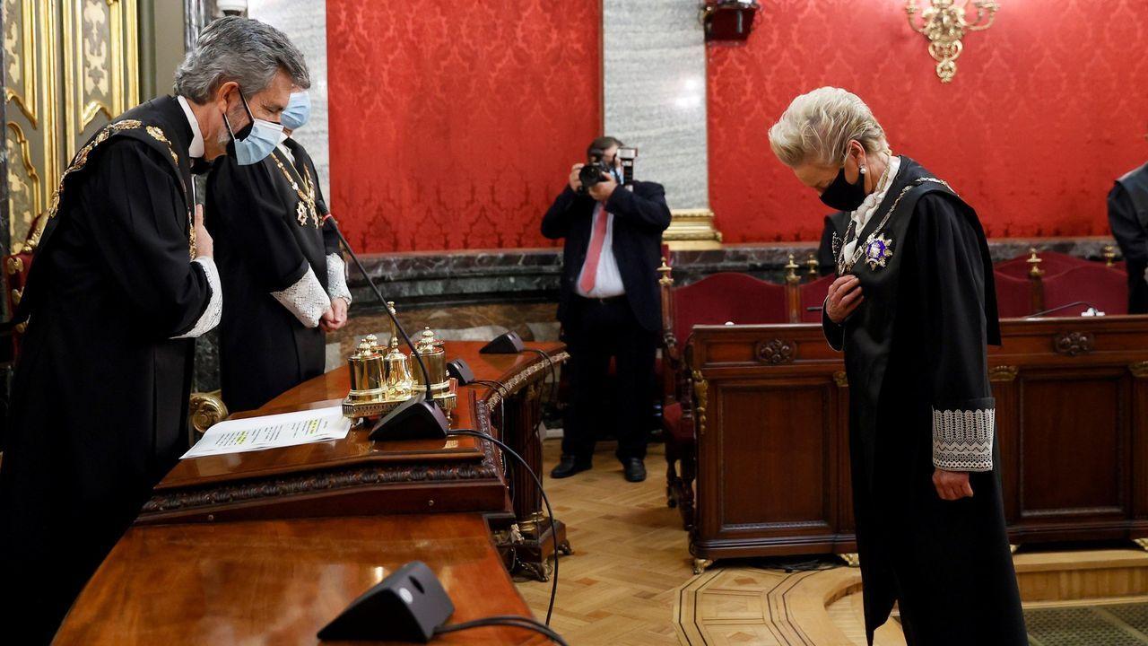 El presidente del CGPJ, Carlos Lesmes, el pasado noviembre, en la toma de posesión de los nuevos presidentes de sala del Tribunal Supremo