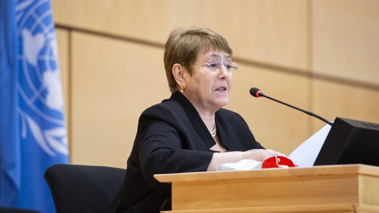 Imágenes de la pandemia en el mundo.La alta comisionada de la ONU para los Derechos Humanos, Michelle Bachelet