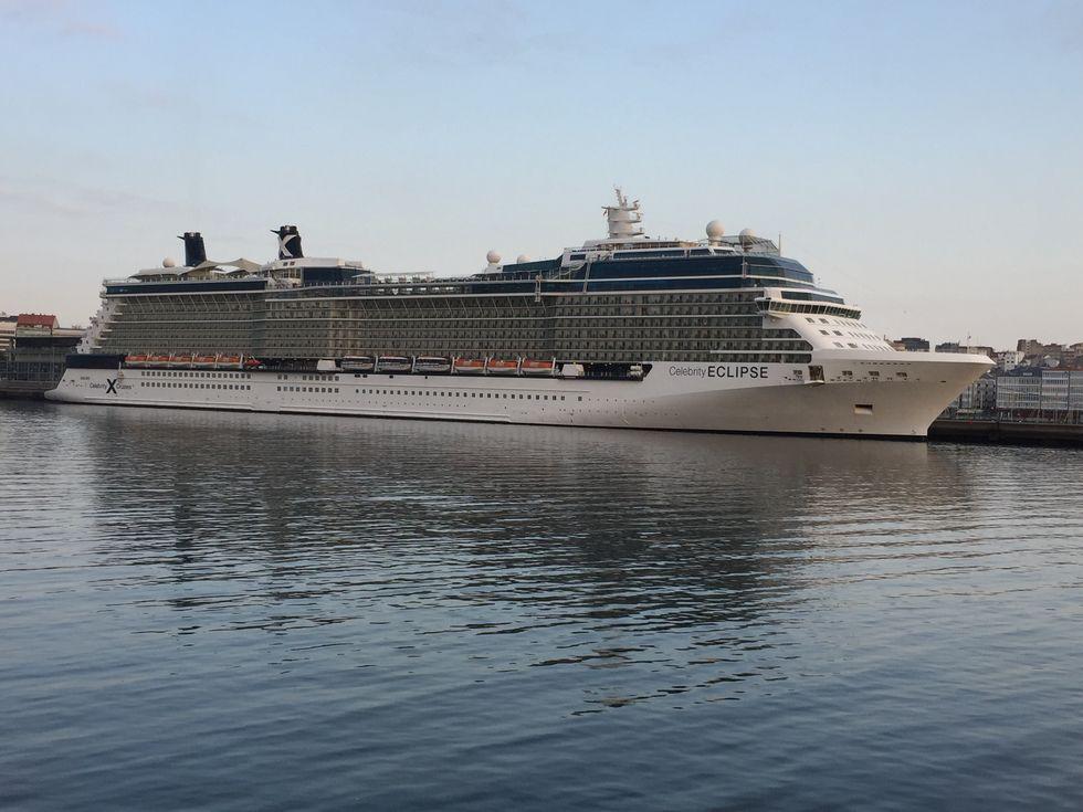 Crucero ayer en A Coruña