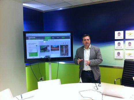 Luis Bará presentó los contenidos de la nueva web sobre patrimonio rural