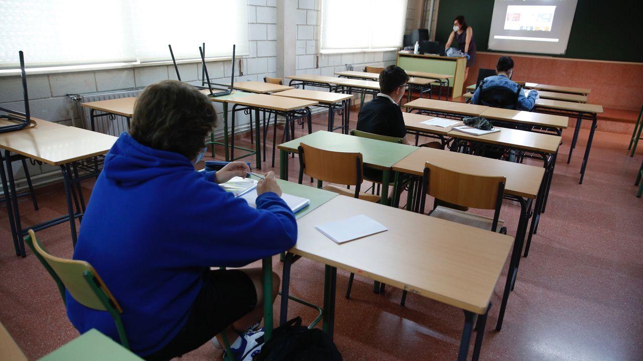 Pandemia del coronavirus. Vuelta a las aulas en el instituto Rafael Dieste de A Coruña