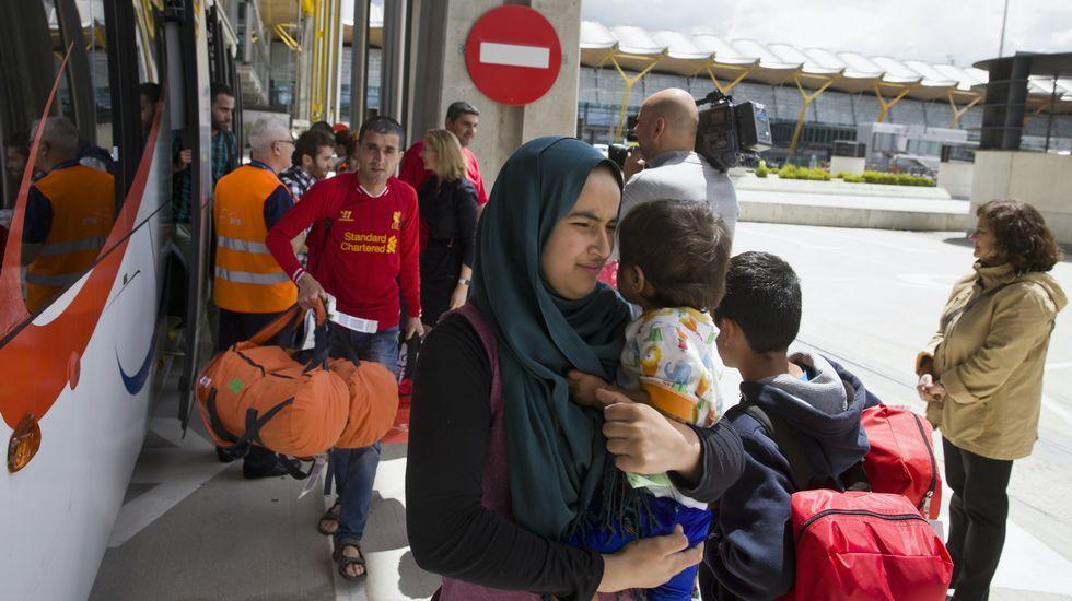 El 20 Encuentro de Fotoperiodismo «Ciudad de Gijón» hace sitio a los refugiados.Refugiados, a su llegada a Madrid