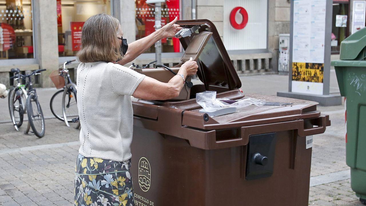 Así será la nueva plaza de Barcelos.Desarrollar plenamente el  sistema de compostaje en todo el municipio de Pontevedra será una de las claves del nuevo contrato