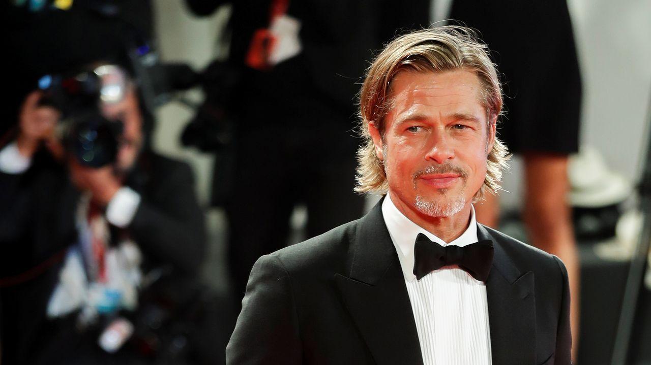 Brad Pitt, en la alfombra roja de Venecia, donde presentó en la noche de este jueves el filme de James Gray «Ad Astra»