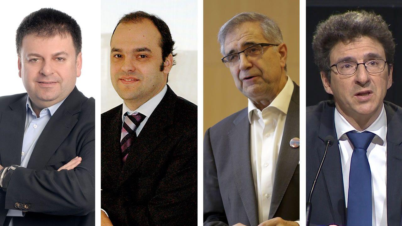 De izquierda a derecha: Santiago Carbó, José Carlos Díez, José Antonio Herce y Joge Sicilia