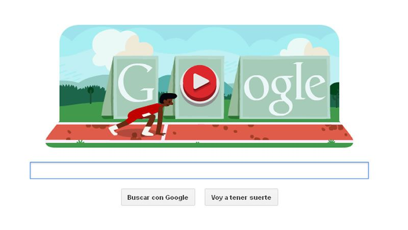 Doodle olímpico vallas.Okutu volverá a ser uno de las referencias en la prueba.