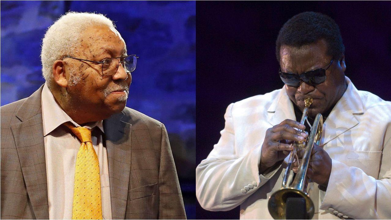 Ellis Marsalis y el trompetista Wallace Romey