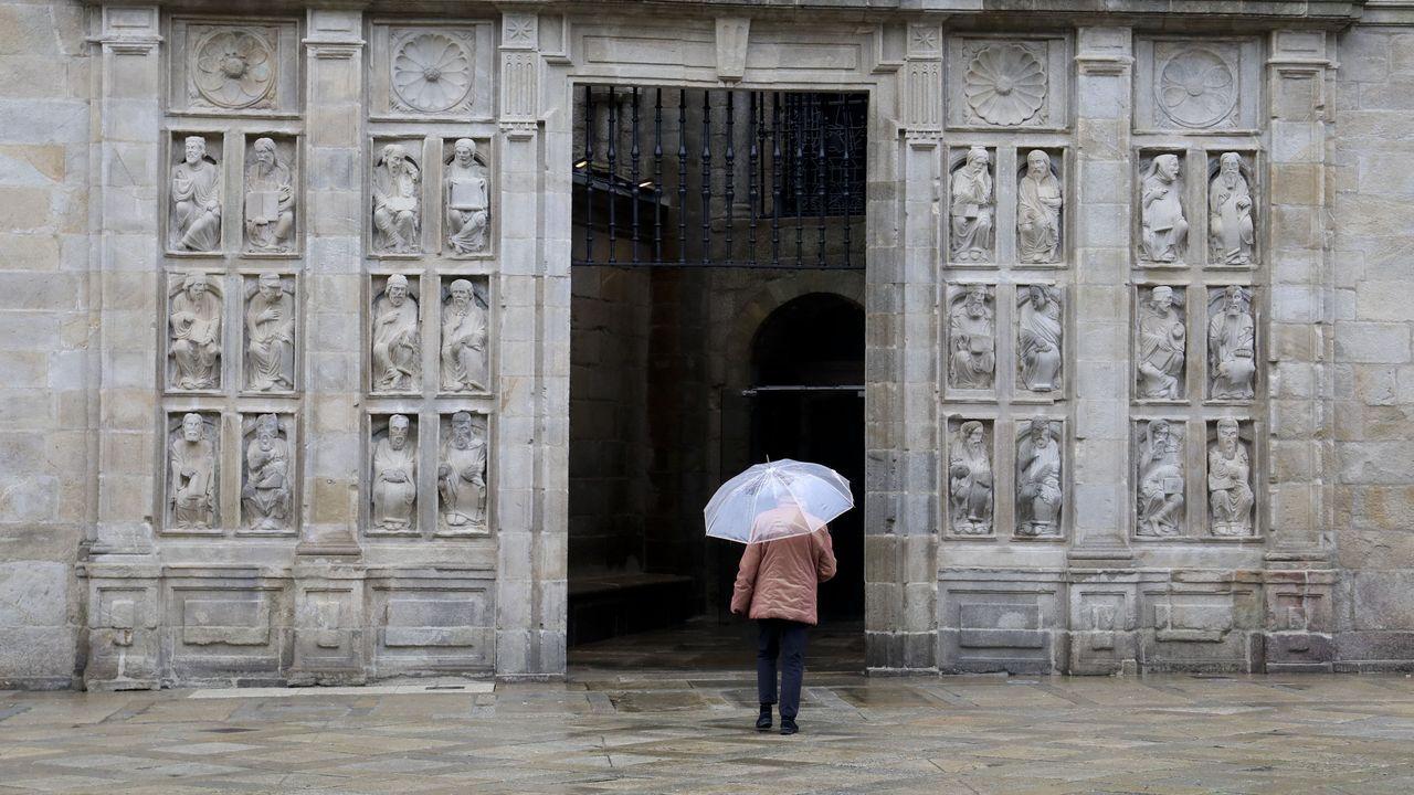 La Puerta Santa, sin colas ni peregrinos, ayer por la mañana
