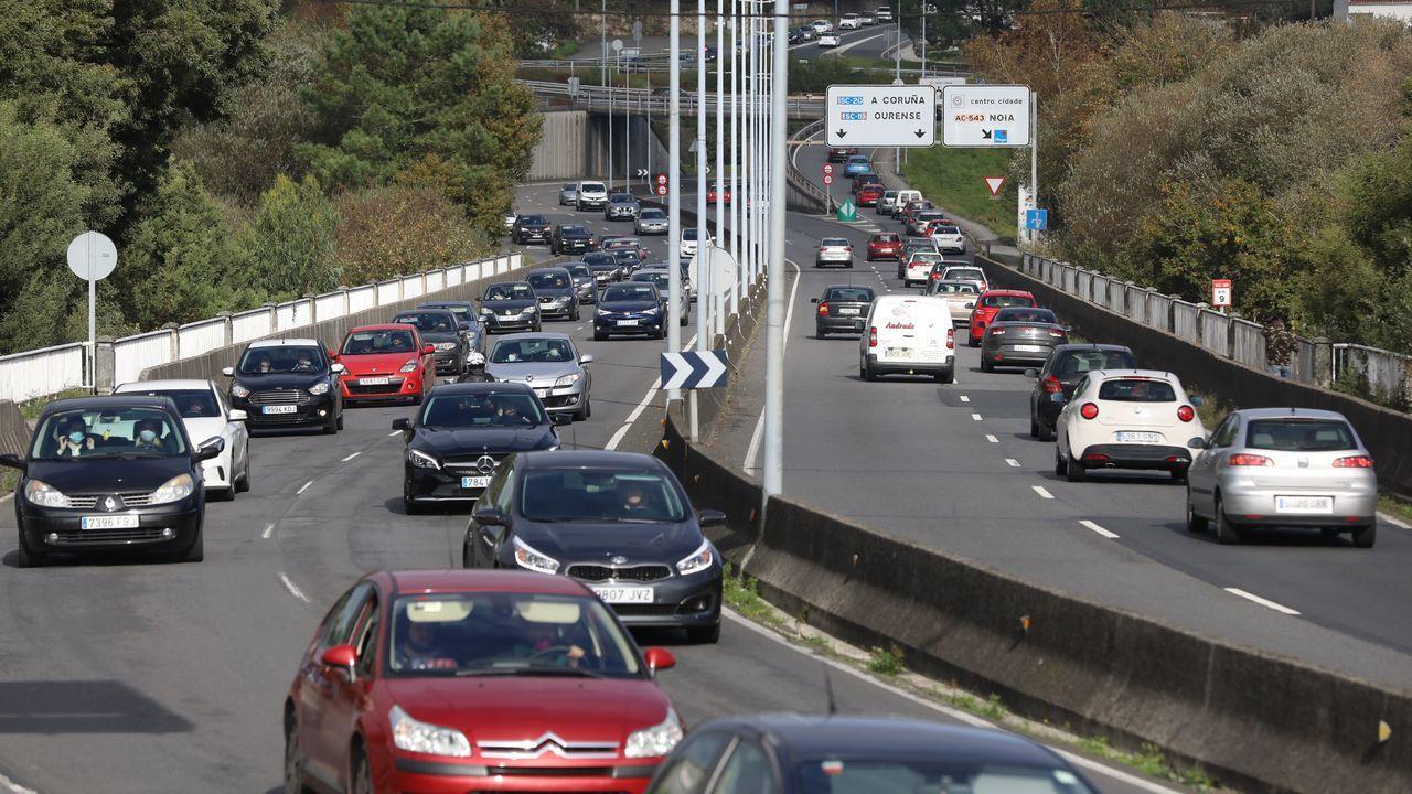 Tráfico entre Santiago y O Milladoiro