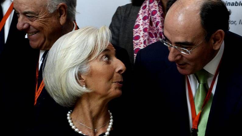 El presidente de Iberdrola habla con Lagarde en Bilbao