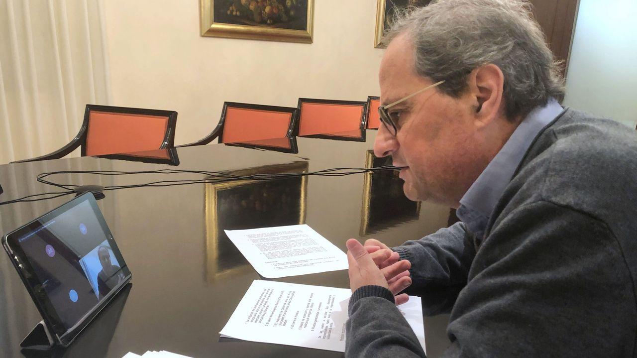 Comparecencia de Pedro Sánchez en el Congreso.Pablo Iglesias, este jueves, en el Congreso