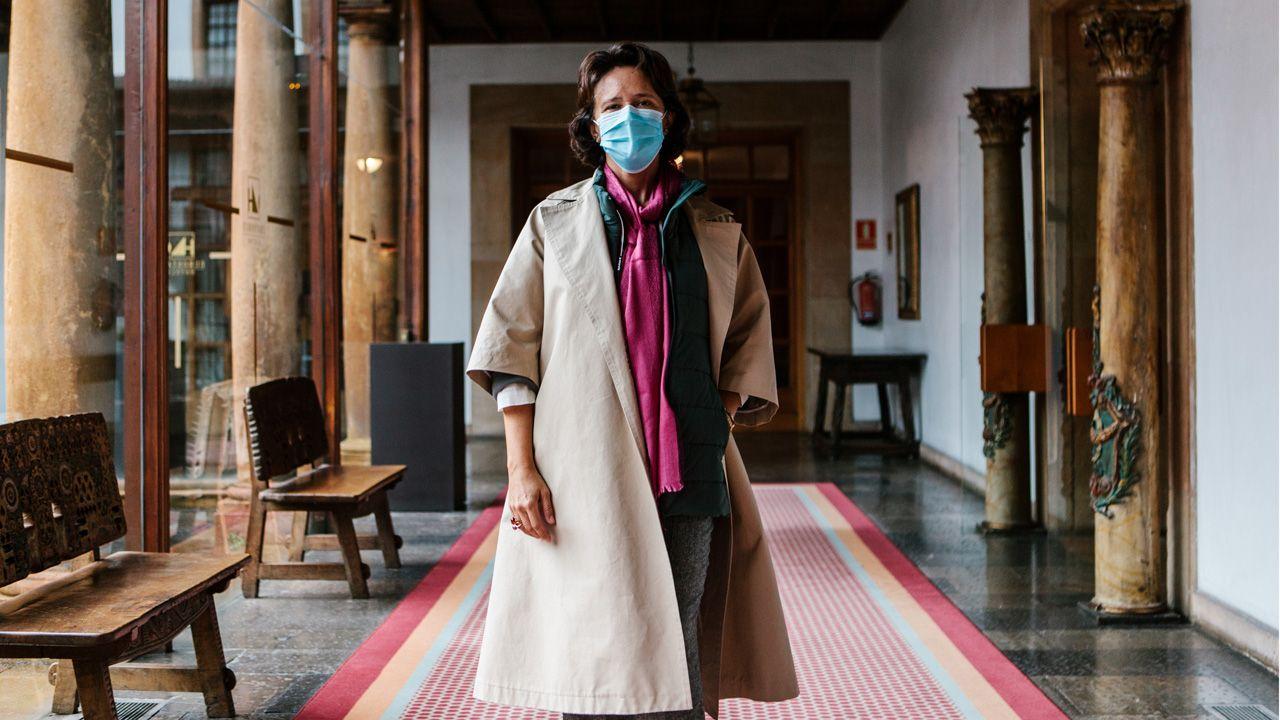 Teresa Sanjurjo, directora de la Fundación Princesa de Asturias, esta semana en el Hotel de la Reconquista de Oviedo