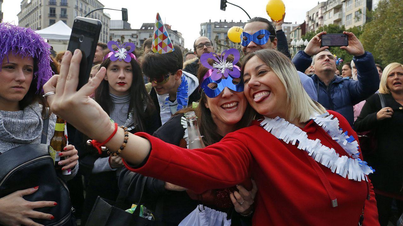 ¿Estuviste en las uvas de fin de año de Vilagarcía? ¡Búscate!
