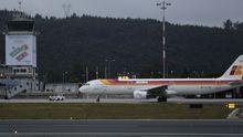 Un avion de Iberia, en Alvedro.