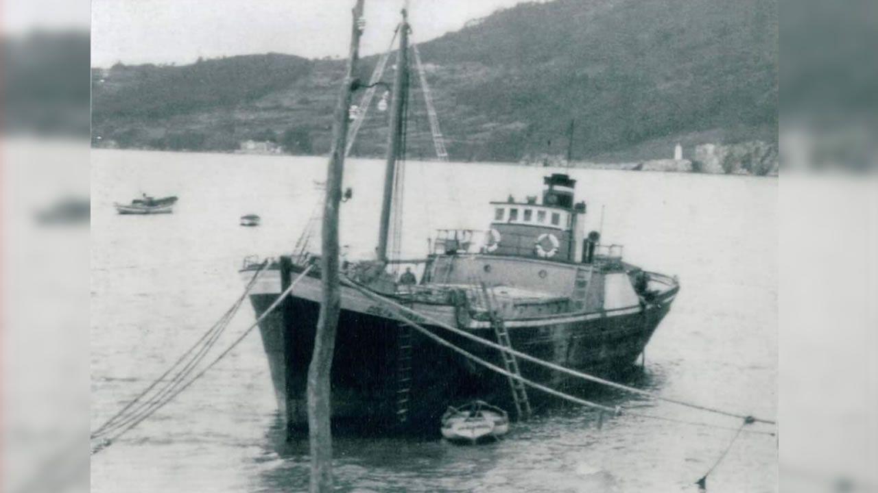 El Golfo de Vizcaya, en 1966, cuando acabó varado en O Vicedo tras tener problemas mientras navegaba a la altura de Estaca de Bares