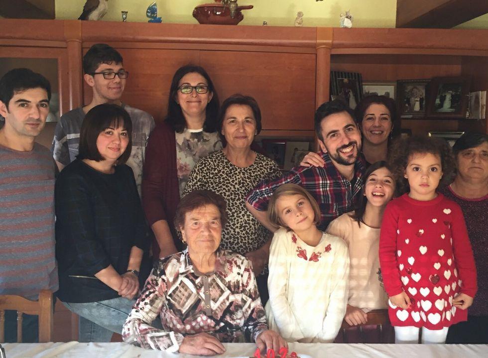 Aurora Ramos y su familia.