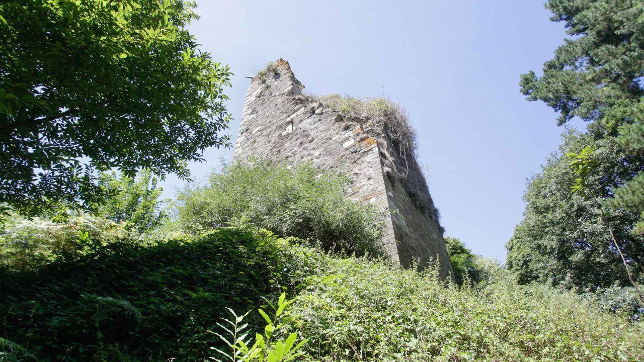 Vista de la torre, que está situada en la parroquia de Pino