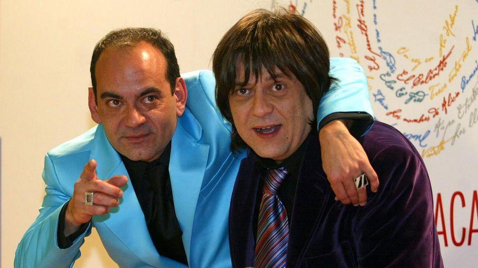 Jose Corbacho, en una imagen de archivo con Juan Cruz, cuando ganaron el Goya a la mejor dirección novel por «Tapas»