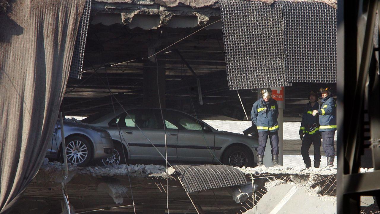 Volvo.Imagen de archivo del atentado en la T-4