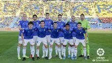 Once del Real Oviedo ante la UD Las Palmas