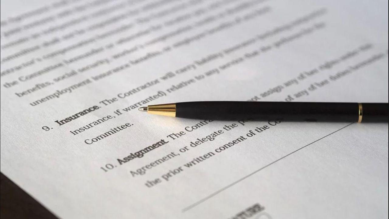 Papeles de un contrato