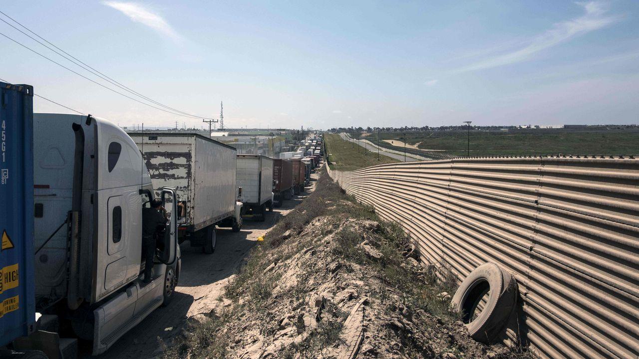 Frontera entre México y Estados Unidos en Tijuana