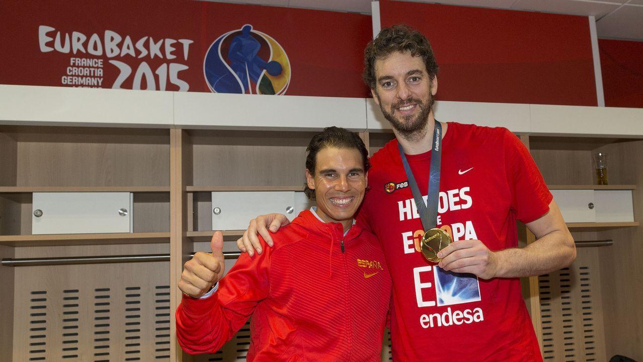 Nadal y Gasol en el Eurobasket del 2015