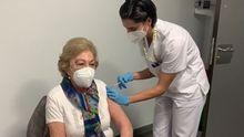 Vacunación de los mayores de 80 en Vigo