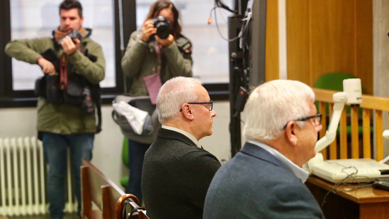 El caso del supuesto enchufe de la cuñada de Carmela Silva llega a los juzgados.Miñanco, durante una de las sesiones del juicio