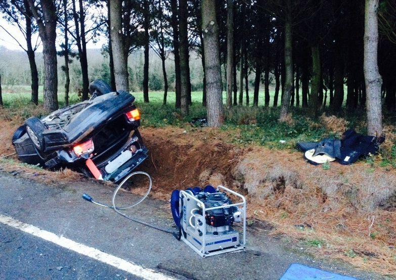 El accidente, un choque frontal, según Tráfico, ocurrió en la N-640.