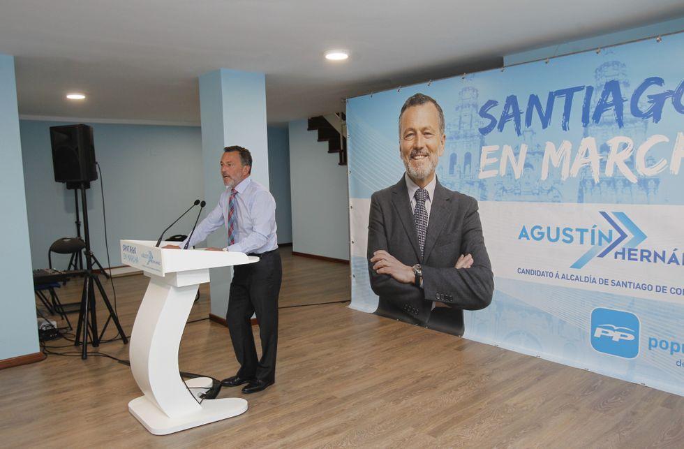 Agustín Hernández presentó en su sede de campaña las líneas para el próximo mandato.