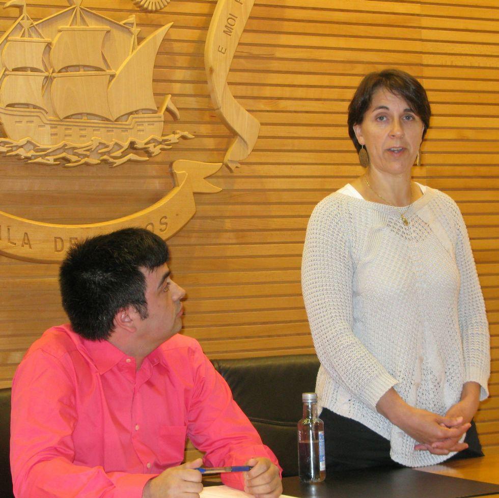 María Xosé Alfonso, momentos después de su elección.