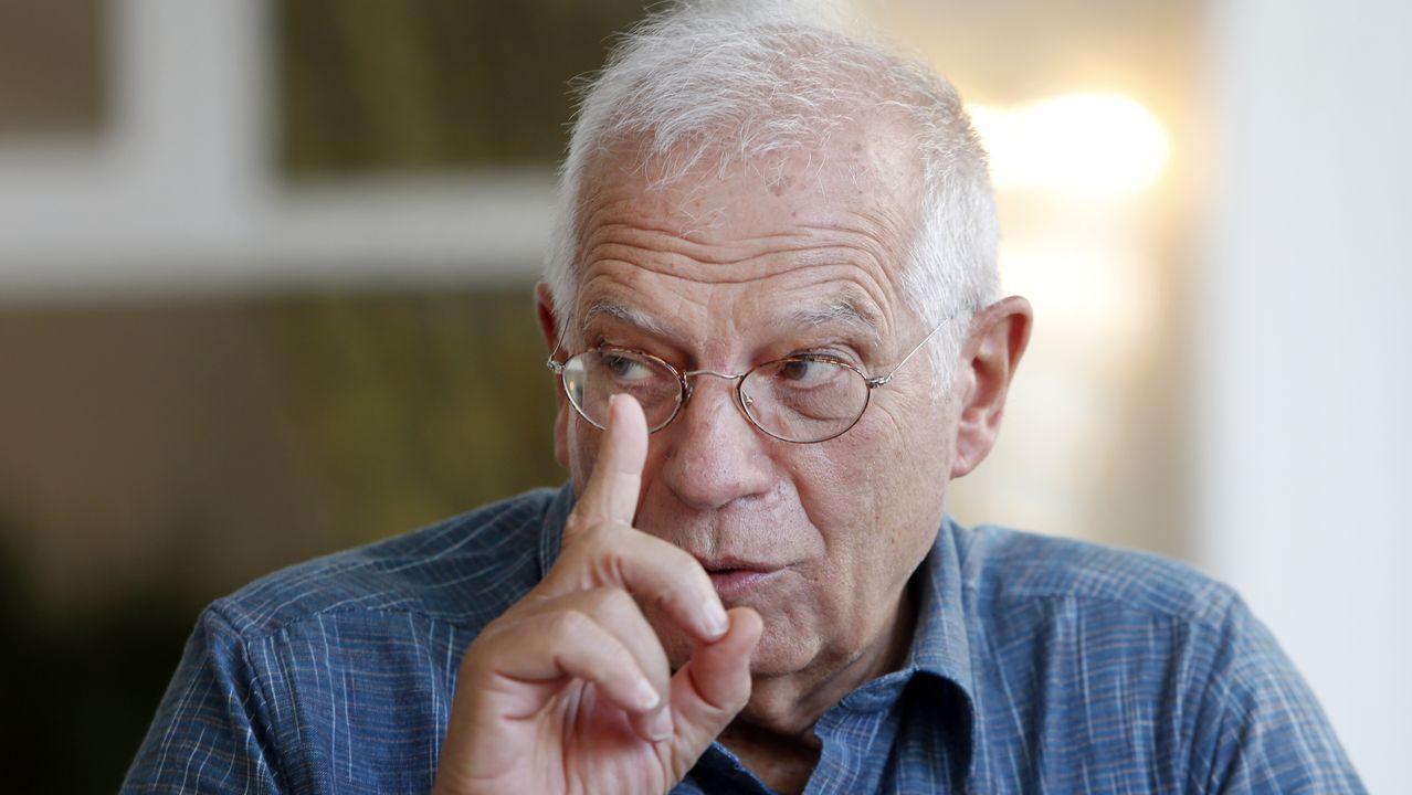 Josep Borrell, en O Grove