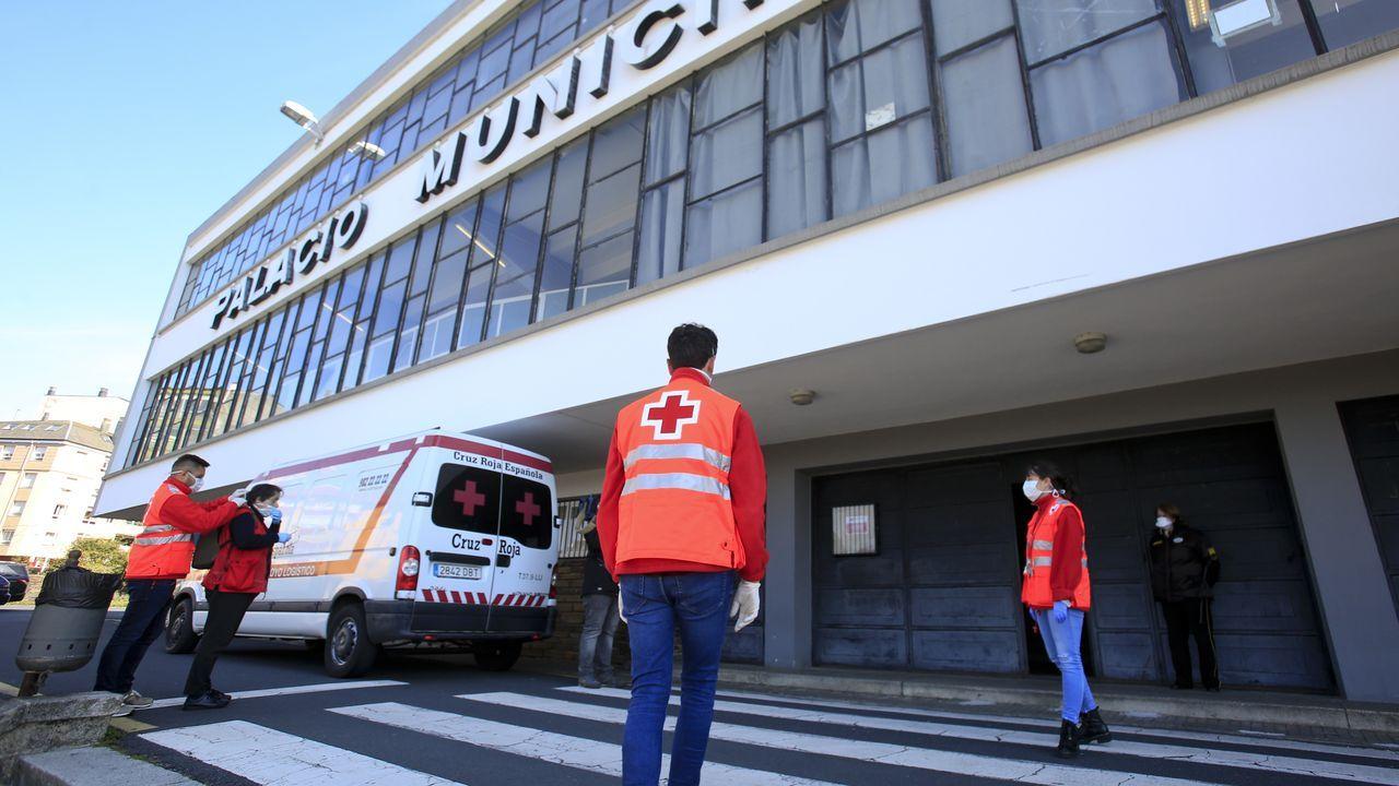El Pabellón de Deportes de Lugo convertido en albergue para los sintecho