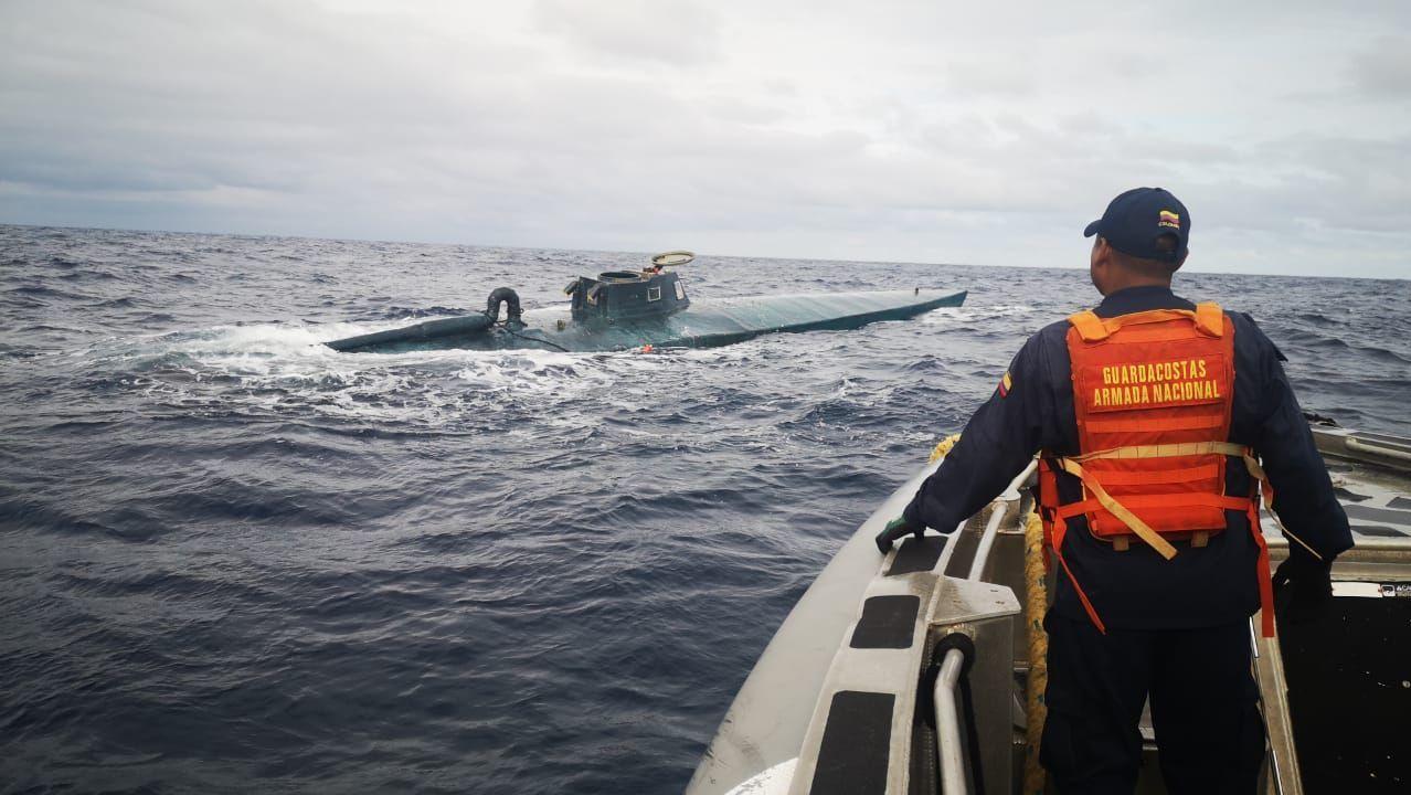 Narcosubmarino incautado este año en el Pacífico