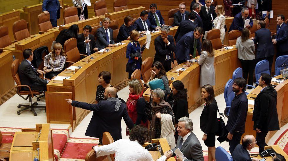 Muchos diputados debutaron en O Hórreo