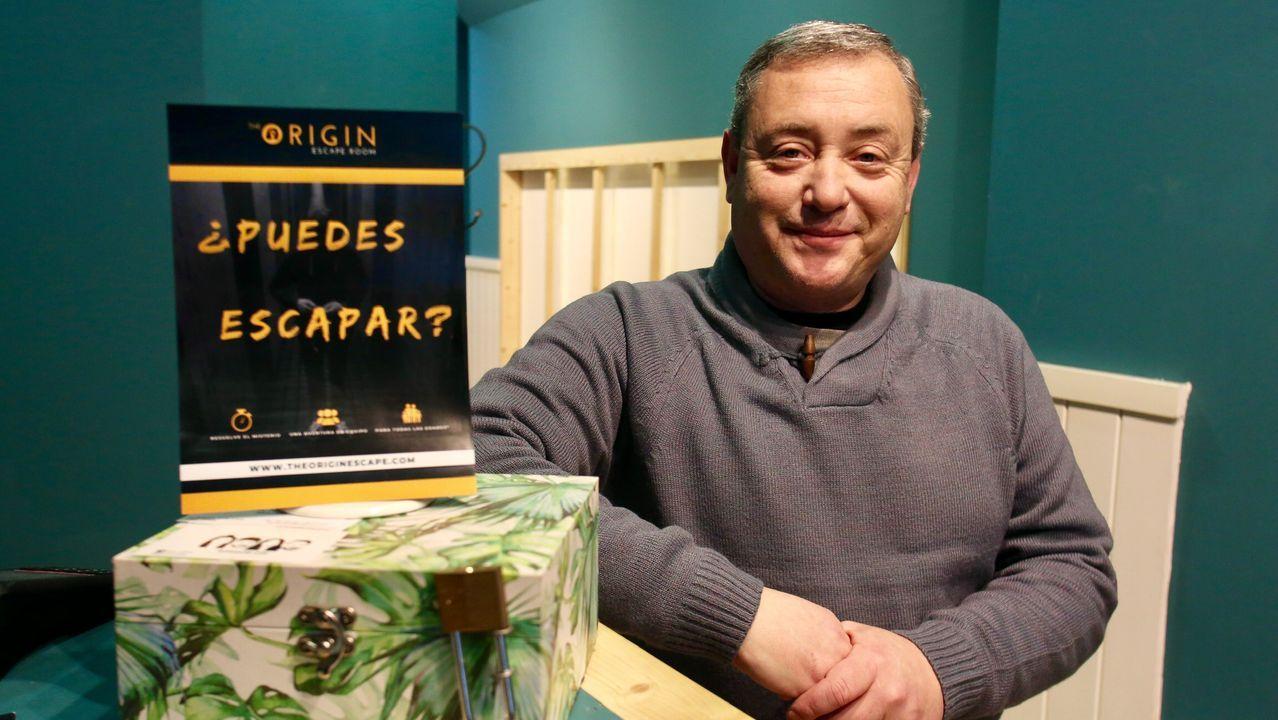 Santiago Gil es el propietario de The Origin Scape, en calle María