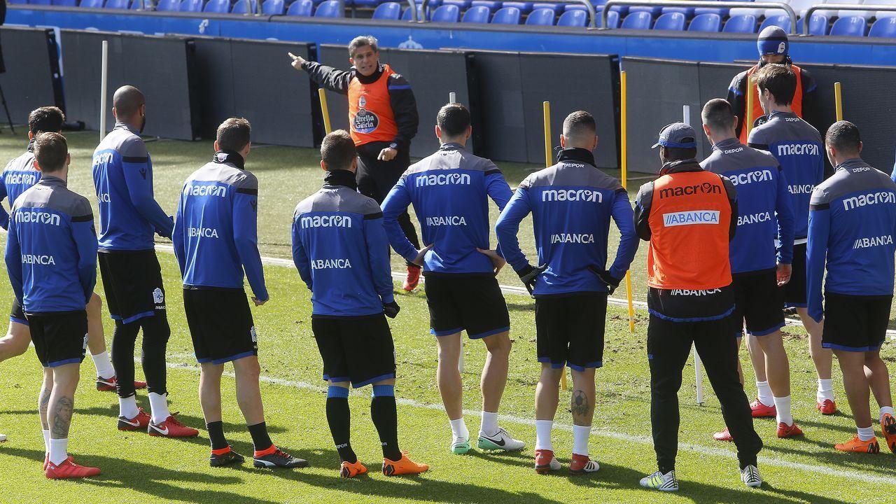 La plaga de lesiones del Dépor en el último mes.Seedorf lleva siete jornadas al frente del banquillo deportivista