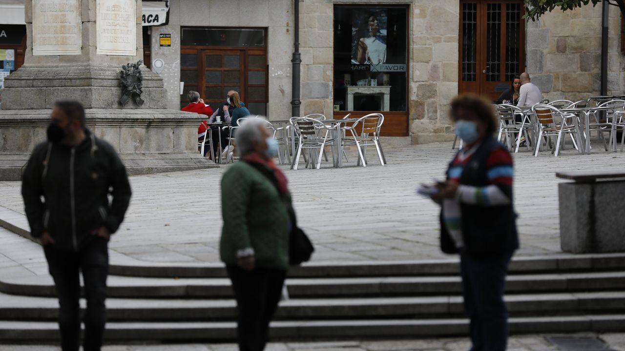 Manifestación hostelería n Viveiro.Viveiro fue confinado en marzo, en julio y en noviembre del 2020, y entre diciembre del 2020 y enero del 2021