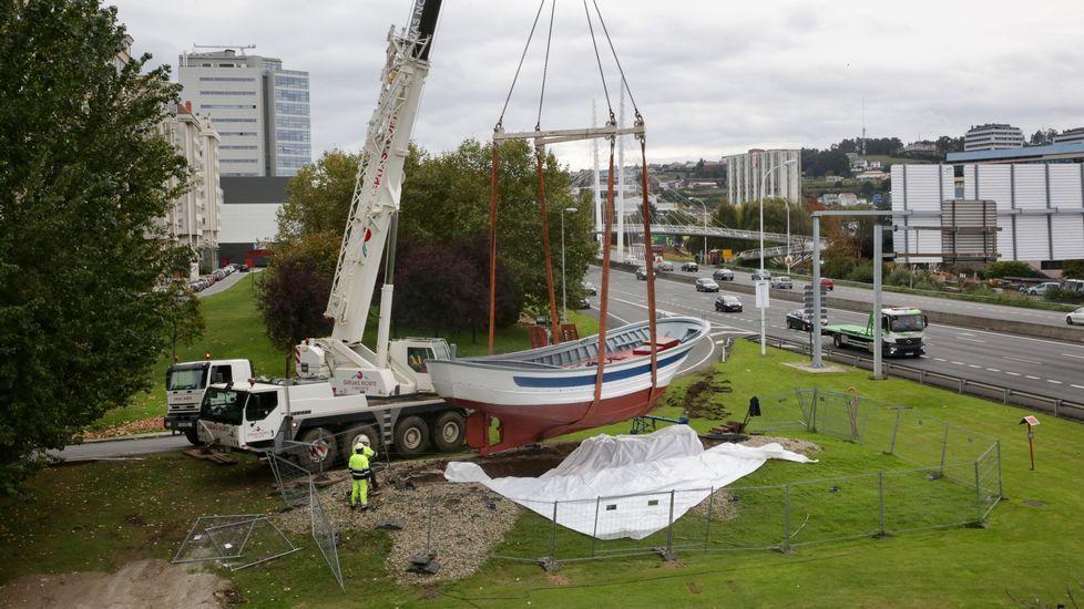Colocando el barco de Alfonso Molina