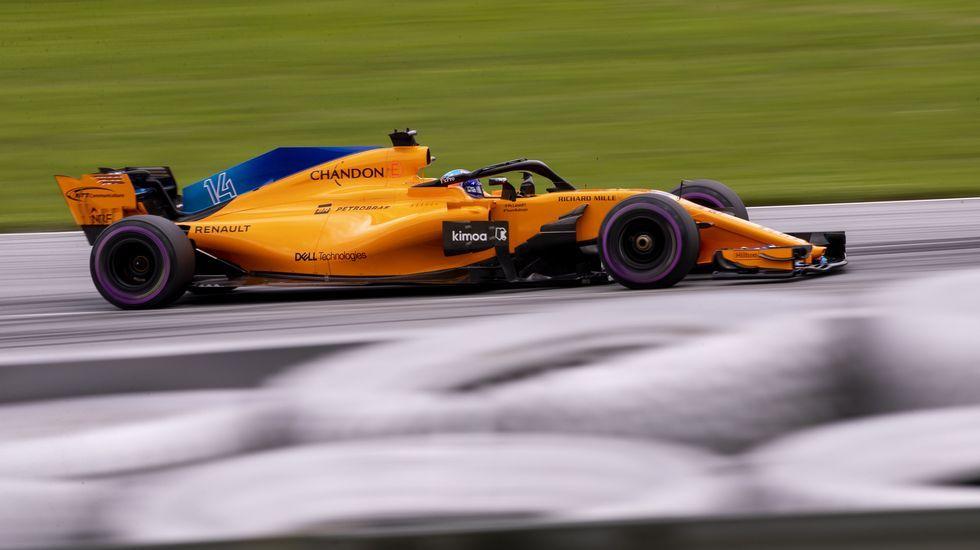 Fernando Alonso en el circuito de Spielberg, en Austria