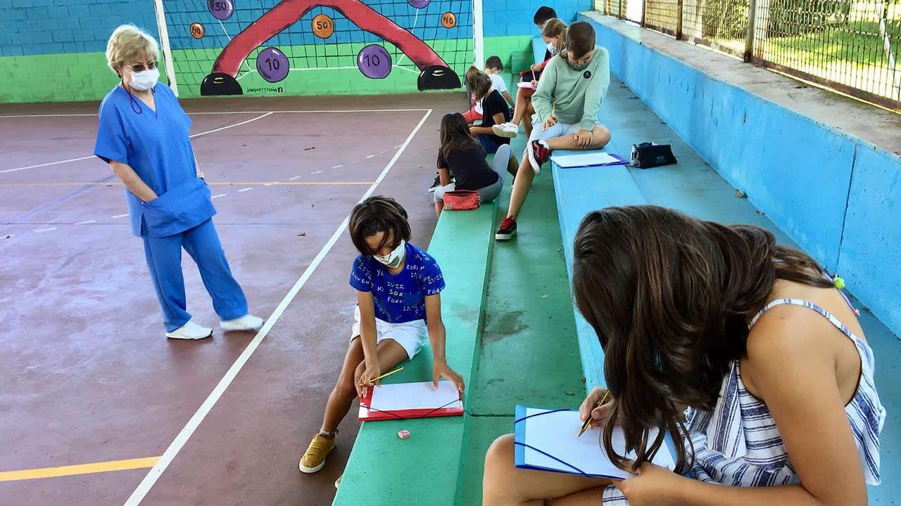 Colegio A Laxe, en Ferrol
