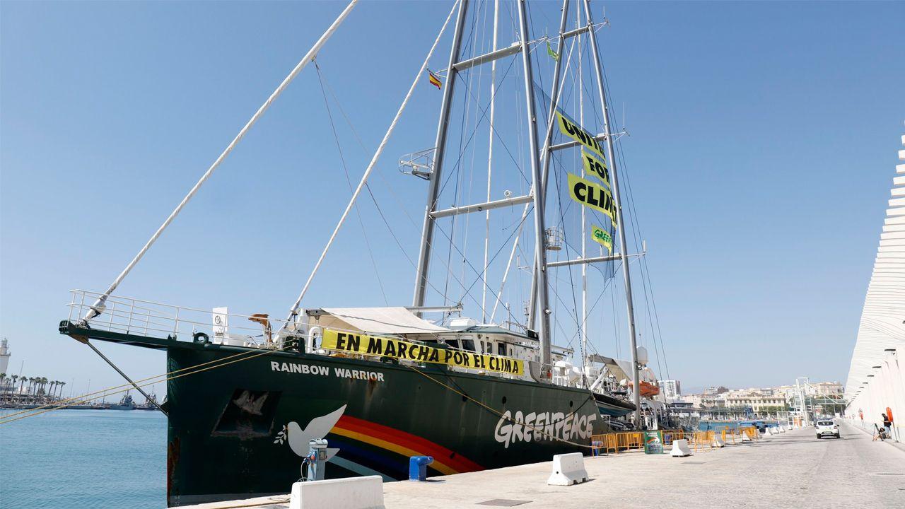 A bordo del Rainbow Warrior de Greenpeace.El Rainbow Warrior, en una imagen de archivo