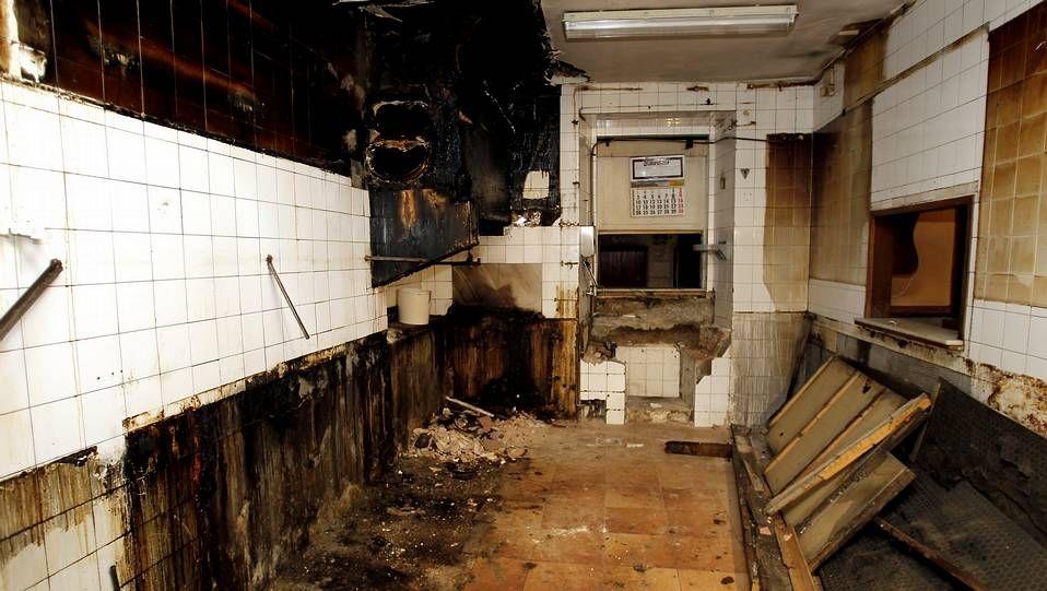 El restaurante Vilas de Santiago, en estado ruinoso