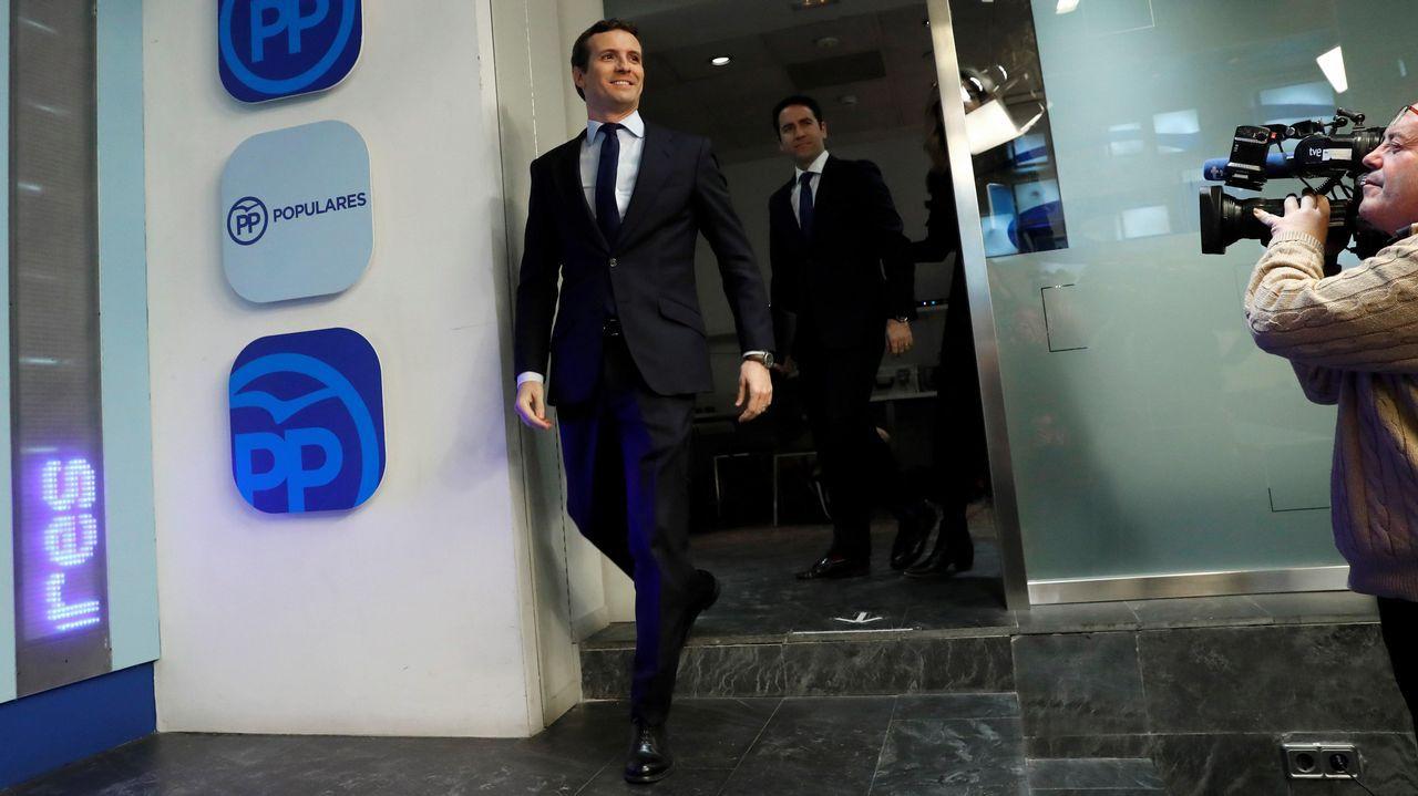 Pablo Casado atribuyó el adelanto electoral a la presión que han ejercido el PP y los demás partidos de la oposición.