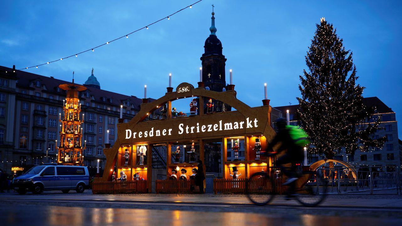 Calles vacías en Dresde, Alemania