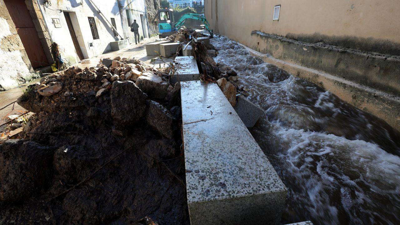 Las consecuencias de la tromba de agua en Viveiro