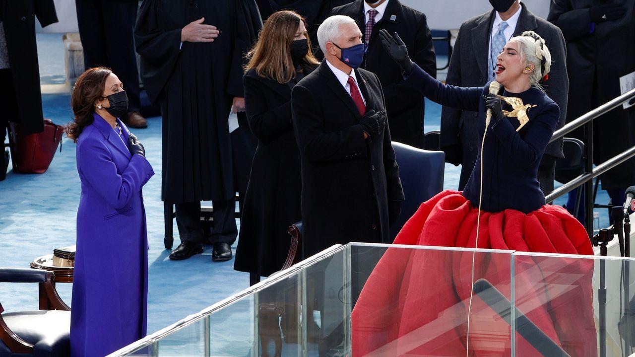 Lady Gaga interpretó el himno de Estados Unidos