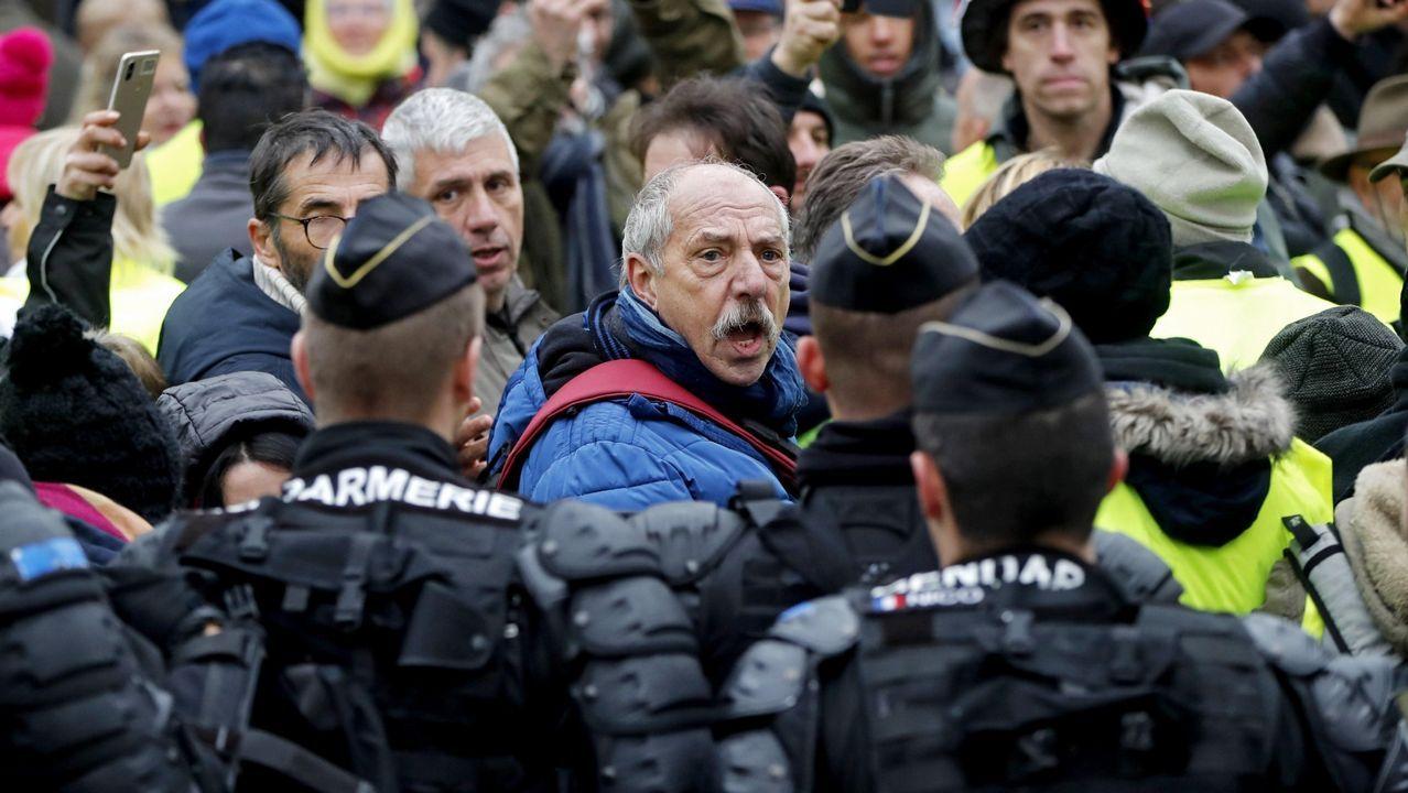 Manifestación de chalecos amarillos en la localidad francesa de Souillac